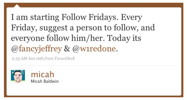 FollowFriday is Born