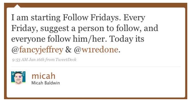 FollowFriday is Born