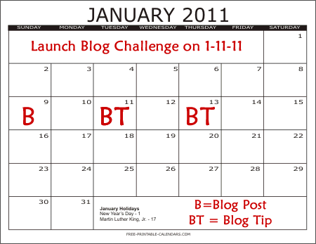 January Blog Calendar