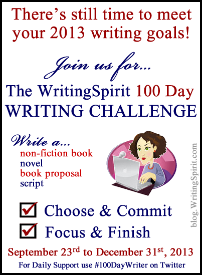 100 Day Writing Challenge Pic